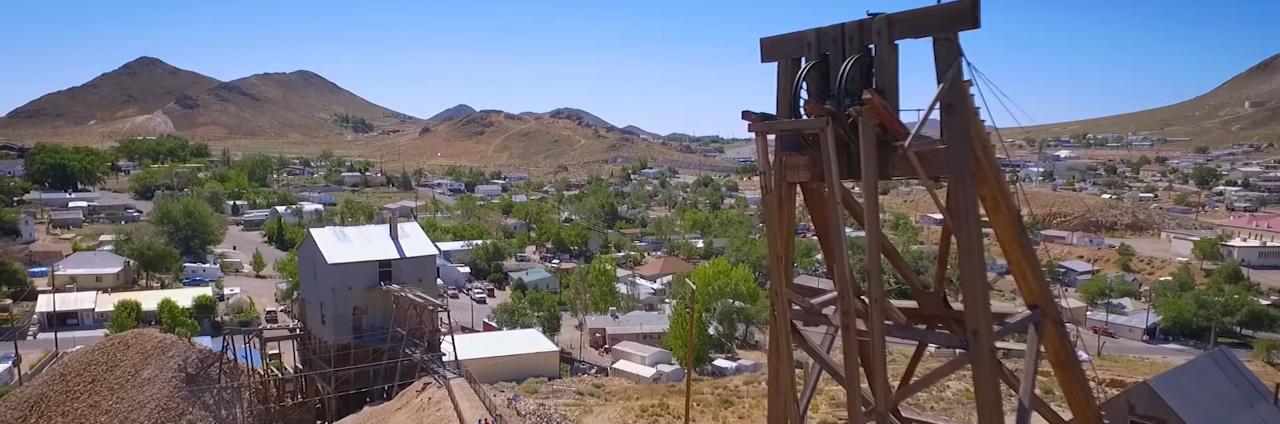 Tonopah Historic Mining Parks Silvertop Headframe