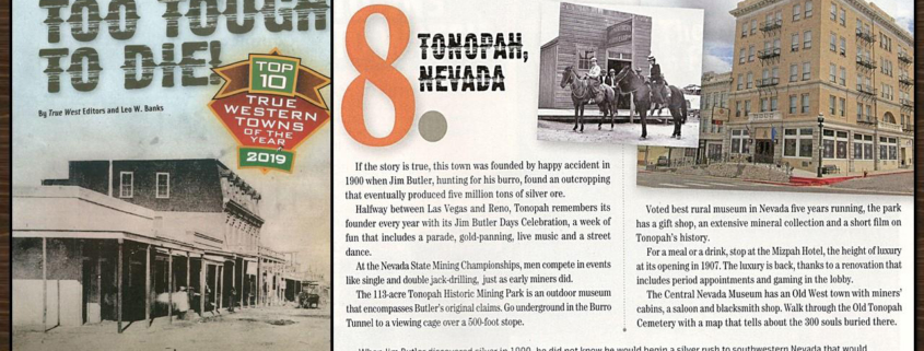 Tonopah, NV Honored as Top True Western Town by True West Magazine!